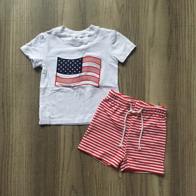 July 4th National flag new Arrivals baby boys summer cotton shorts Elastic white red stripes star print Independence Day kids