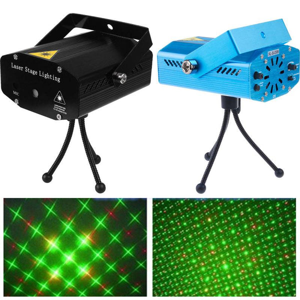 LED Laser Projector Christmas Decorations Laser Disco Light Laser Light Dj Voice-activated DJ Disco Xmas Party Club Light Mini