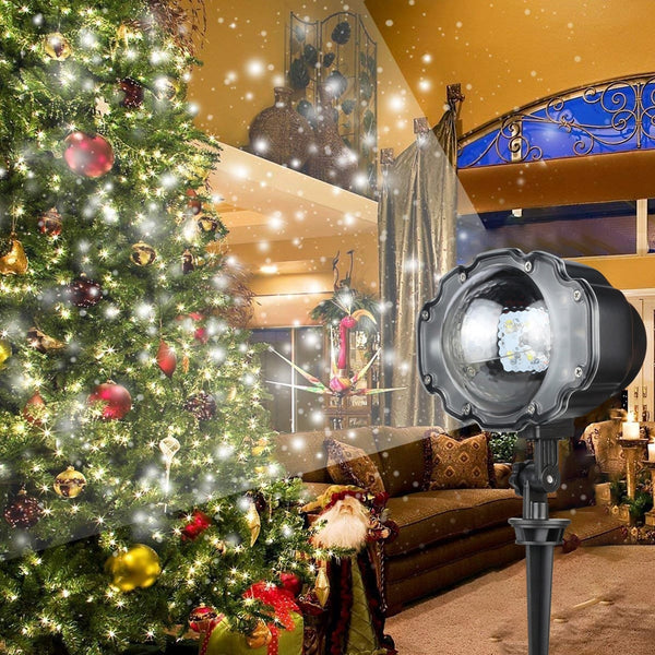 LED Snowfall Laser Projector IP65 Waterproof Outdoor Christmas Garden Landscape Light Wedding Party Laser Stage Lawn Light