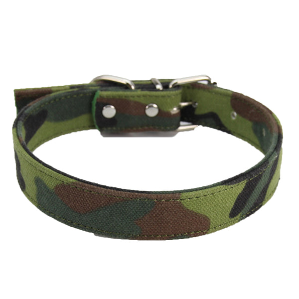 M/L/XL Size Army Green Canvas Pet Dog Collar for Large Dogs Pet Collars With Buckle Hot Design Dog Accessories Mascotas Chien