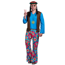 70s Retro Hippie Peace And Love Cosplay Fancy Dress -  Men