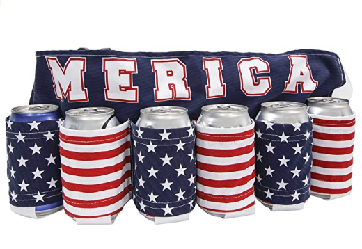 USA Americana Themed Beverage Holder Beer Belt Drink Holder