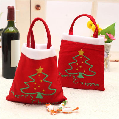 Merry Chrismas Bag Kids Gift Candy Bags Pouch Mini Handbag Christmas Decoration for Home Party New Year Decoration