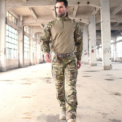 Military Uniforms Multicam Camouflage Tropic Frog Suits MTP Trainning G3 Suits Men US Army Airsoft Combat Shirt + Cargo Pants
