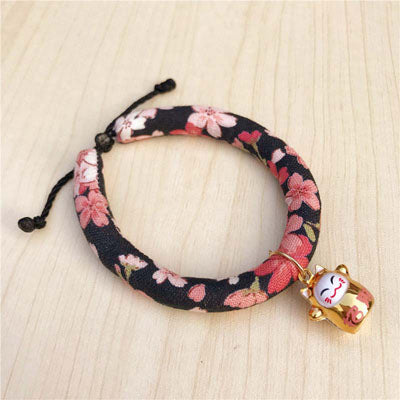 New Arrival 16 Style Lovely Flower Printed Pet Cat Collars High Quality Soft Canvas Collar for Small Cats Adjustable Necklace10E