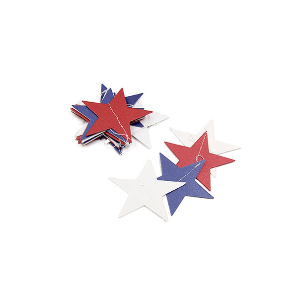 New Arrival DIY july 4th Independence Day Decoration Banner String Flags Star Ornaments Pearlescent Paper Party Hanging Decor