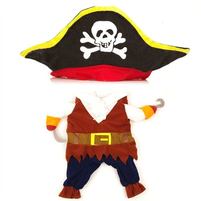 New Arrival Funny Pet Clothes Cosplay Pirate Dog Cat Halloween Party Cute Costume Clothing Comfort For Small Medium Dog #254925