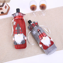 New Merry Christmas Santa Wine Bottle Bag Cover Xmas Dinner Party Tables Decor merry christmas decoration wine bottle bag