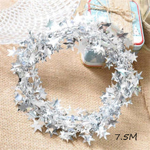 Omilut Christmas Decoration Chain Ribbon Christmas Tree DIY Star Merry Christmas Party Decoration Supplies Happy New Year 2019