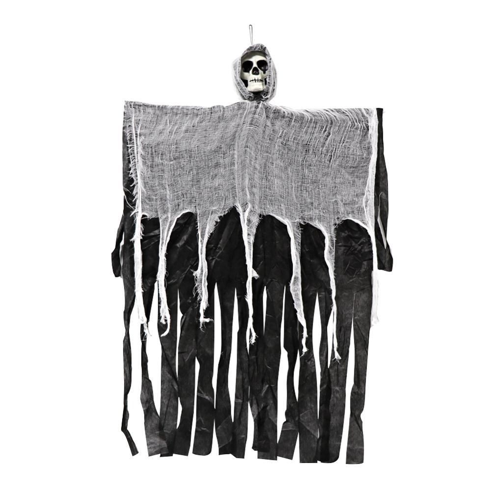 OurWarm 100cm Halloween Hanging Ghost Haunted House Hanging Grim Reaper Horror Props Home Door Bar Club Halloween Decorations