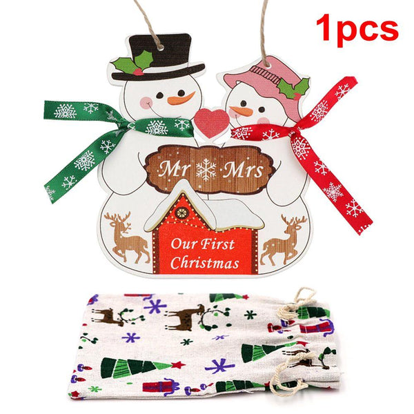 24pcs Magic Color Scratch Christmas Ornaments Cute Paper Pendants Xmas Tree Decoration Kids Party Supplies