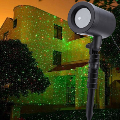 Outdoor Christmas Laser Projector Sky Star Stage Spotlight Showers Landscape Garden Lawn Light DJ Disco Lights RG Decorations