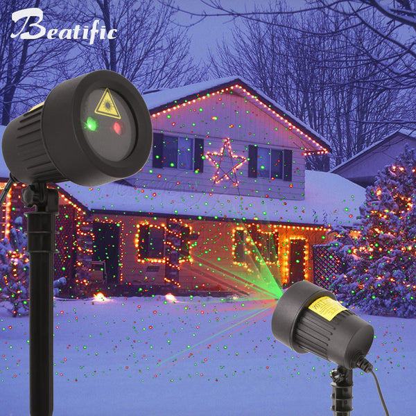 Christmas Projector.Outdoor Christmas Lighting Laser Projector Decorations For Home New Year Fairy Lights Garden Holiday Decor Lawn Light