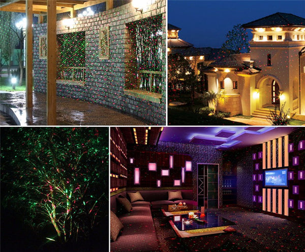 Outdoor Laser Projector Sky Star Spotlight Showers Landscape DJ Disco Lights R&G Garden Lawn Christmas party
