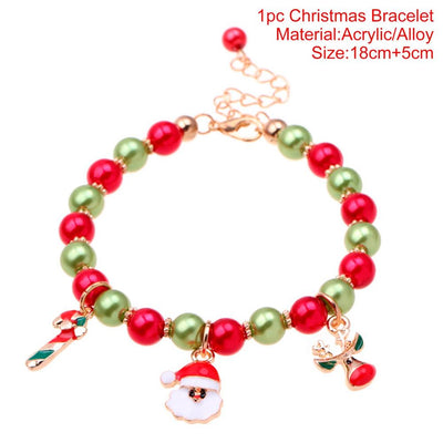 PATIMATE 2018 Christmas Santa Claus Bracelet Merry Christmas Decor for Home Noel 2019 Happy New Year Christmas Ornaments Xmas
