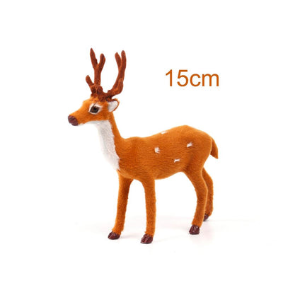 PATIMATE Simulated Plush Reindeer Furry Deer 2018 Merry Christmas Decor for Home Christmas Ornament  Navidad Happy New Year 2019