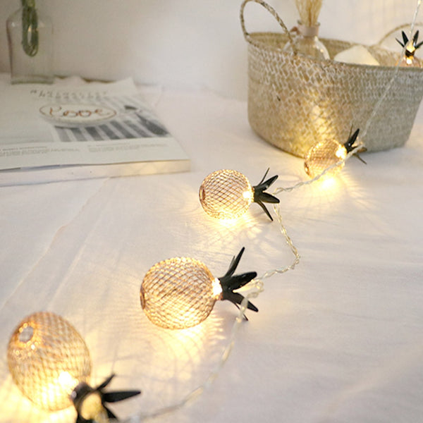 Pineapple LED Lamp String Christmas Decorations For Tree 1.5/3M Fruit Battery Box High Quality Wall Home Hanging Ornaments