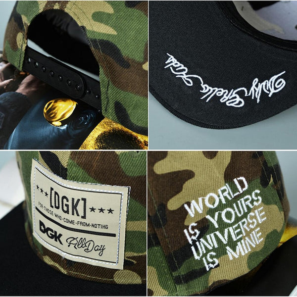 Rock Style Hot Camouflage Hip Hop Street Skateboard Baseball Cap Leisure Adjustable Hat Snapback Cap For Men Women Couple Gifts