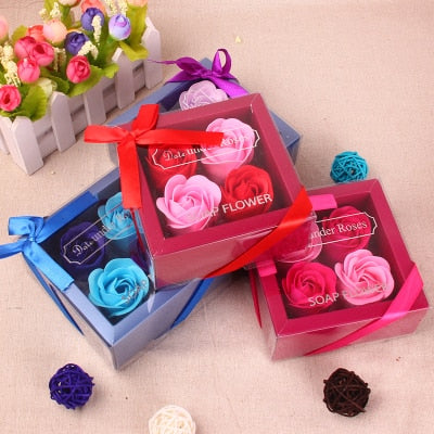 Rose Flower Soap Rose Petals Bathing Body Soap Wedding Decoration Party Gift BATH 2019 New Year Mother's Day gift Valentine Gift