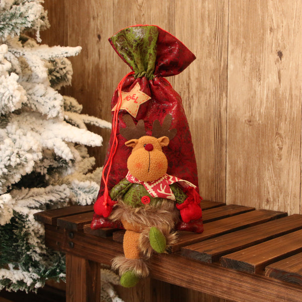 Santa Claus Snowman Elk Christmas Candy Packaging Christmas kids toy Candy bag Apple bag Christmas Decoration For Home