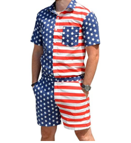 Mens USA American Flag Romper