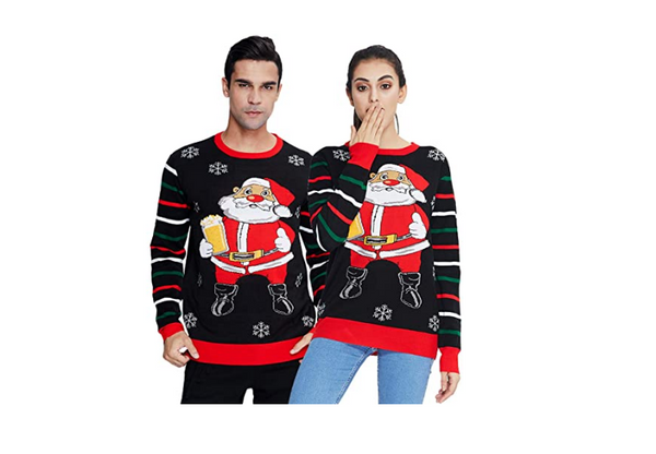 Winter Christmas Sweater Men Women Warm Printed Knitted Jumper Top Couple Lovers Xmas Pullover Casual Loose Ladies Male Sweaters