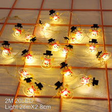Snowman Christmas Tree LED Garland String Lights Christmas Decoration For Home 2019 Christmas Ornaments Navidad Natal New Year
