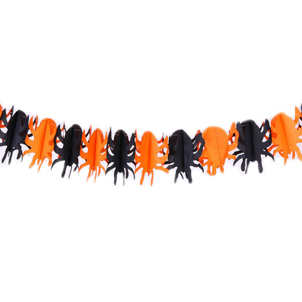 Spider Pumpkin Scary Witch Garland Halloween Paper Haunted House Prop Useful