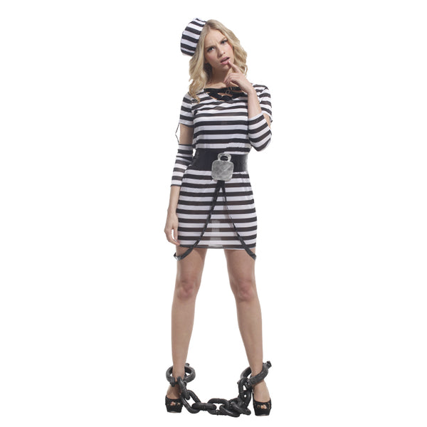 Adult Violent Prisoner Cosplay Fancy Dress -  Women