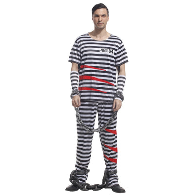 Adult Violent Prisoner Cosplay Fancy Dress - Men