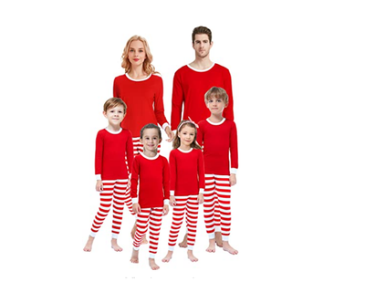 Matching family look Christmas Pajamas Clothes for Family winter red striped toddler Outfits Christmas Pajamas Sleepwear Set