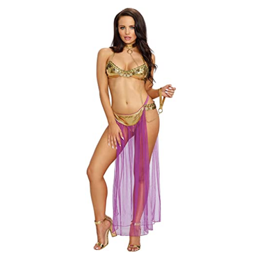 Free shipping,2019 New Adult Women Sexy Star Wars Slave Princess Leia Costume Dress Lady Halloween Fancy Dress Cosplay Costume