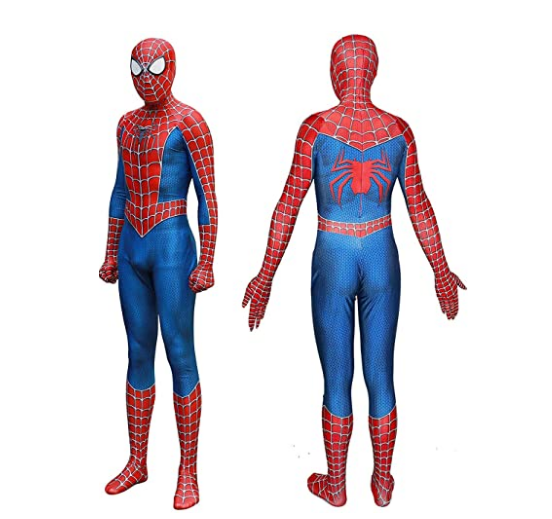 2019 New Spiderman Costume 3D Printed Kids Adult Polyester Fiber (Polyester)Spider-man Costume For Halloween Mascot Cosplay