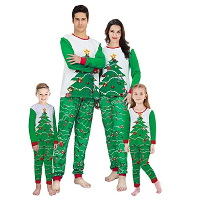 Christmas Family Pajamas Set Santa Adult Kids Women Sleepwear Nightwear Cosplay 2016 long sleeve home wear