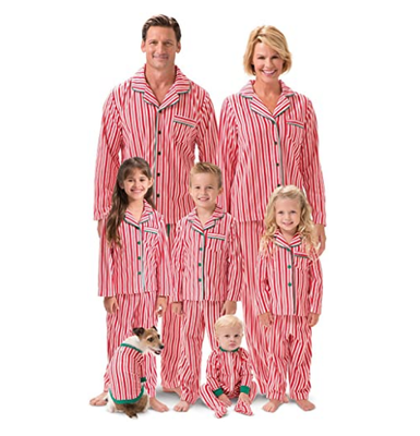 Family Matching Christmas Pajamas Set Adult Women Men Kids Stripe Sleepwear Nightwear 2017 New Arrival Fall Family Match Pjs Set