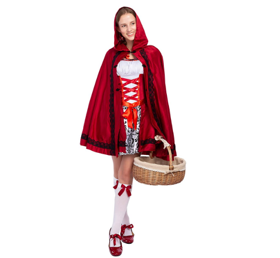 S-6XL Sexy Women Little Red Riding Hood Costumes Adult Anime Cosplay Fantasy Game Uniforms Halloween Party Fancy Dress