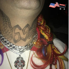 Halloween Tekashi69 Temporary Face And Neck Raper Tattoos