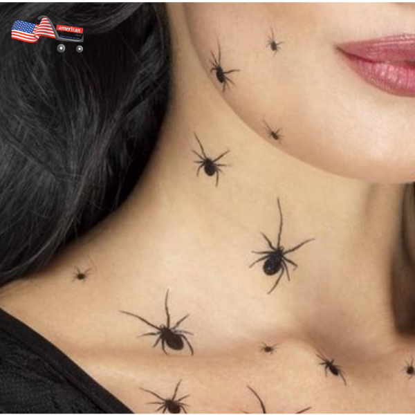 Halloween Spider Tattoos for Halloween Party Costumes & Decorations - Halloween Temporary Tattoos & Bag Fillers