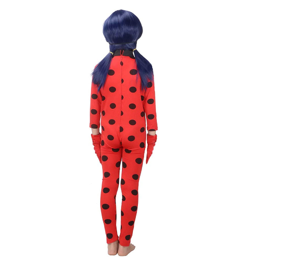 Ladybug Kids Costumes Girls Women Children Girl  Ladybug Girl Halloween Fancy Dress With Glasses And Bags