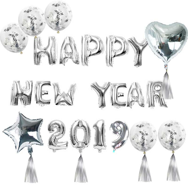 WEIGAO Christmas Decoration New Year 2019 Happy New Year Balloons Christmas Decoration for Home Event Party Supplies Navidad