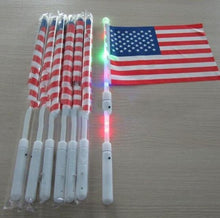 Whosale 20CM*30 cm American Hand LED Flag 4th of July Independence Day USA Banner Flags LED Flag Party Supplies 300pcs/lot