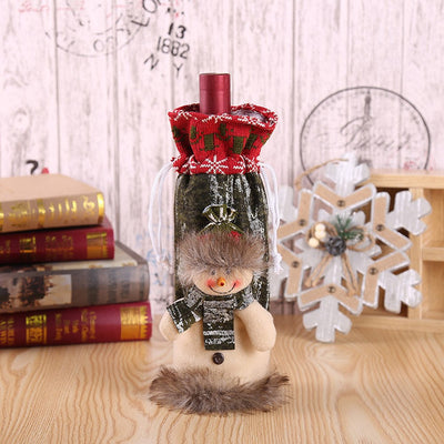 Wine Bottle Cover Bags Decor Home Party Xmas Elk Clothes Christmas Xmas Decoration Noel 2018 Chrismas Decoration Navidad 2018