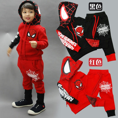 ZOETOPKID Spring Autumn Boys Clothing set Spiderman Baby Boy Sports Suits 2-6 Years Clothes Set Children Tracksuits