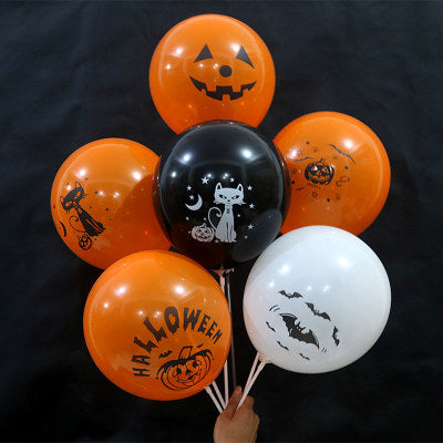 ZOPHIL 12inch 6pcs Halloween Decoration Balloons Halloween Party Accessories Prop 2018 Halloween Decorations for Home decoracion