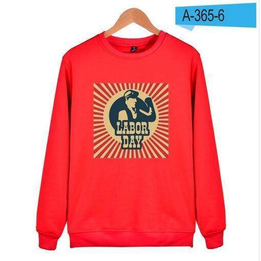 Aikooki New Fashion Labor day Men Print Sweatshirt Hoodies Men Women Hip Hop Autumn Winter Capless Sweatshirt Male Lady Clothes