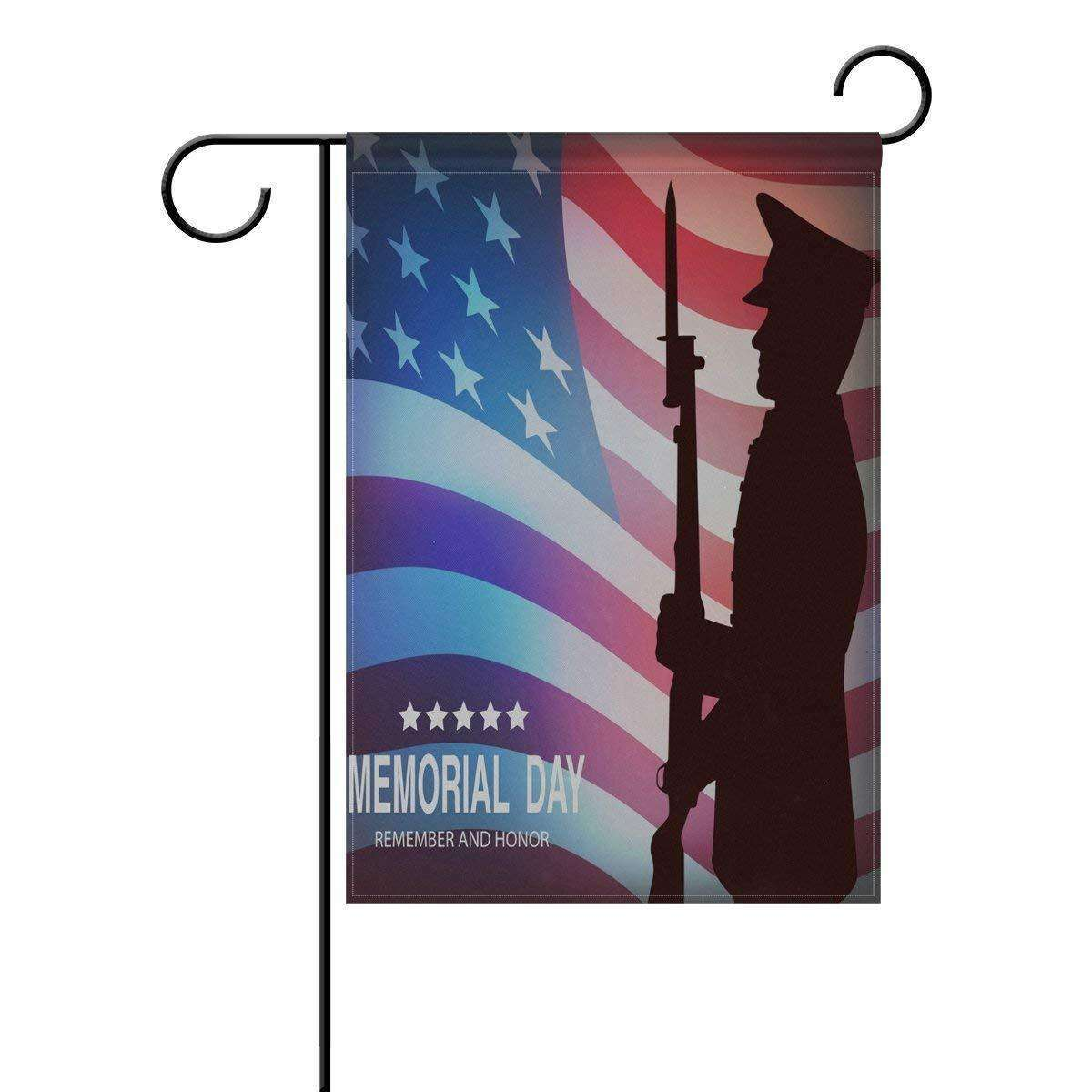 ALAZA Patriotic Eagle Garden Flag Yard Decoration, 4th Of July Memorial Day Independence Day USA American Flag Double-sided Polyester House Banner for Home Outdoor Anniversary Decor, 12