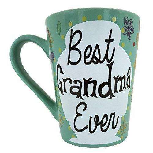 Amazon Prime Sale Day Price Cut - KINREX Coffee and Tea Mug - Best Grandma Ever Cup - 12 oz - Grandma Gifts for Women