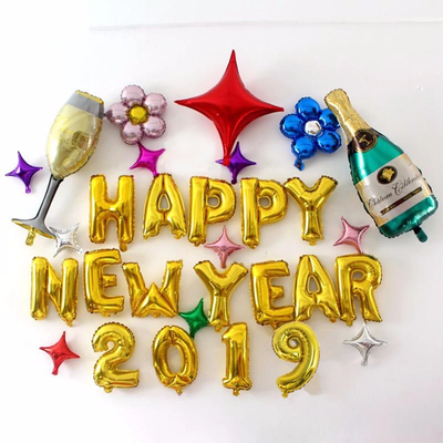 Happy New Year Balloons New Year Decoration 2019 Baloon Christmas Decoration for Home Christmas Ornament 2018 Navidad