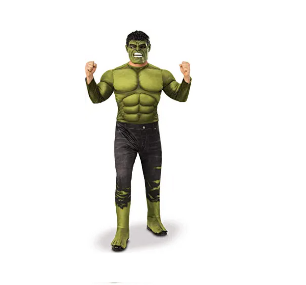On Sale Adult Men's Muscle Hulk Halloween Costume Marvel Avengers Superhero Fantasy Movie Fancy Dress Cosplay Clothing