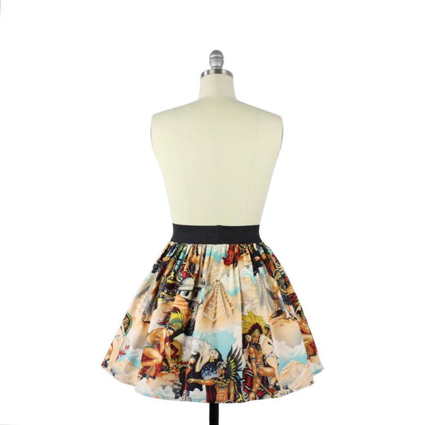 ON SALE!!!Zombie Pin up Halloween A-line Pleated Skirt